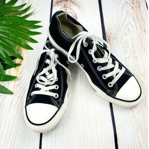 Converse All Star low top sneakers black 9 women